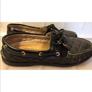 Sperry Top spiders women's 10M Black slip on shoes